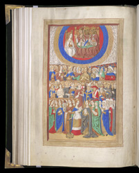 Full-Page Miniature Of All Saints, In A Book Of Hours